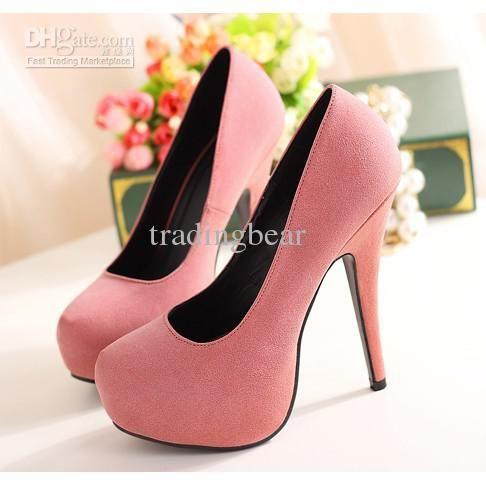 Hot Pink Heels New Season Club Heels Cheap Fashion Heels Pumps