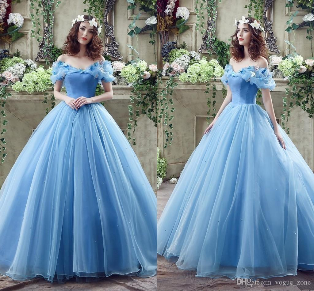 Princess colored 2016 wedding dresses with butterfly for Light colored wedding dresses