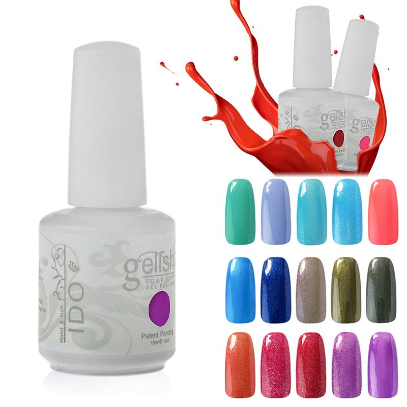 IDO Gelish Cosmetic Soak Off Any 10 pièces Nail Art Gel Gel de clous Fondation T