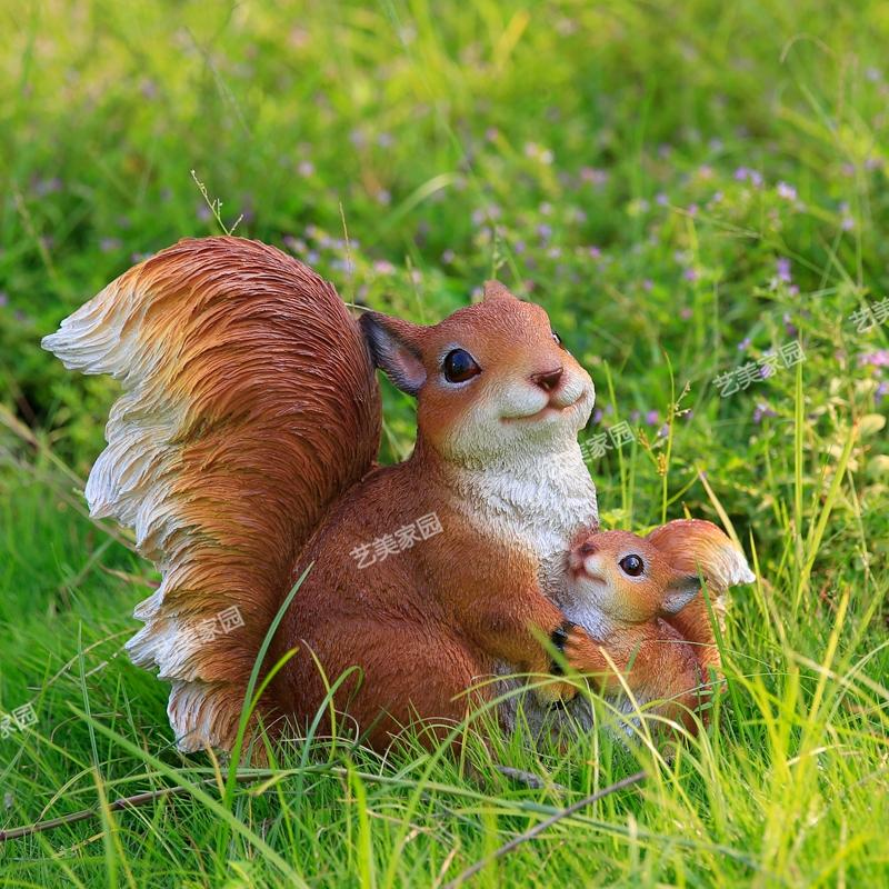 2017 new resin animal ornaments simulation squirrel