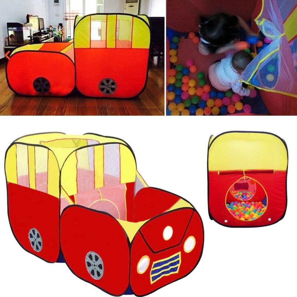 large sports car kids play tent house play hut children ocean balls pit pool indoor outdoor