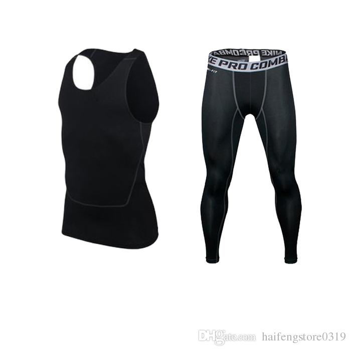 Hommes Running Bodybuilding Skin Collants Sport Survêtements Training Fitness Cr