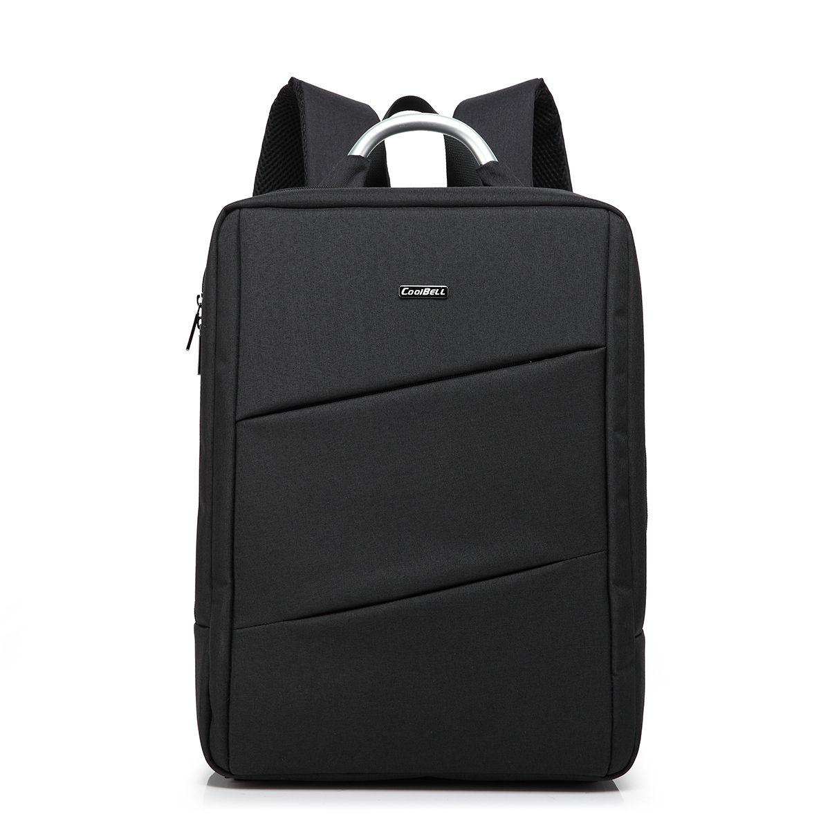 15 Inch Water Resistant Lightweight Slim Backpack Laptop In Black ...