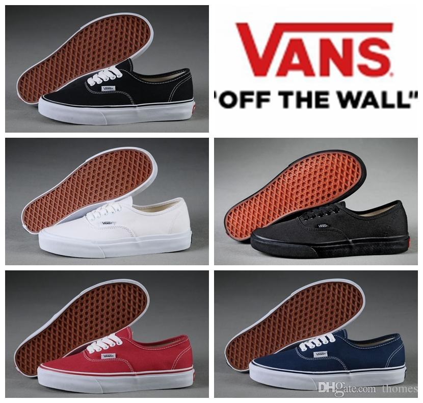 cheap vans authentic black
