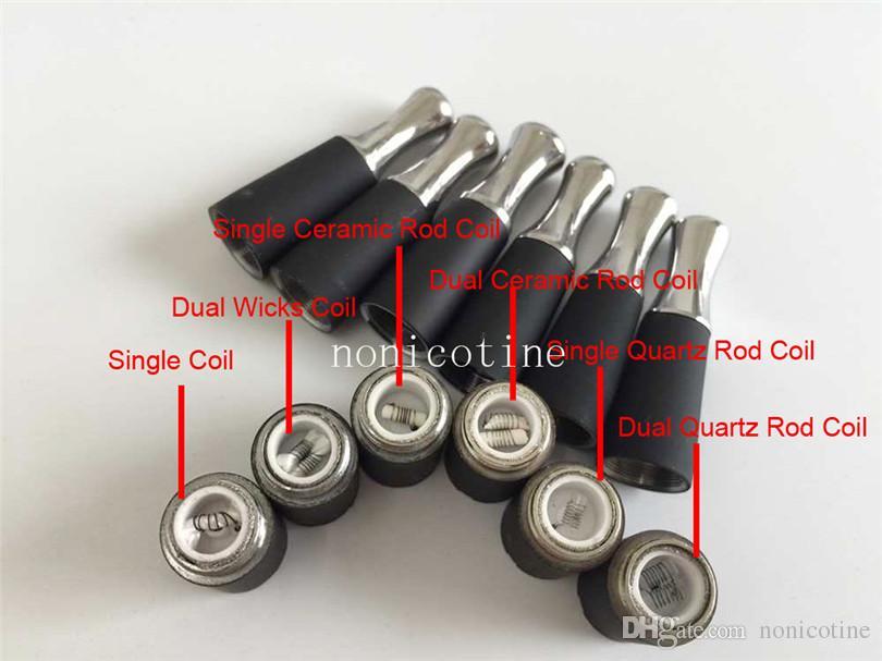 Ego D Skillet Wax Quartz Atomizer Dual Ceramic Coils Dry