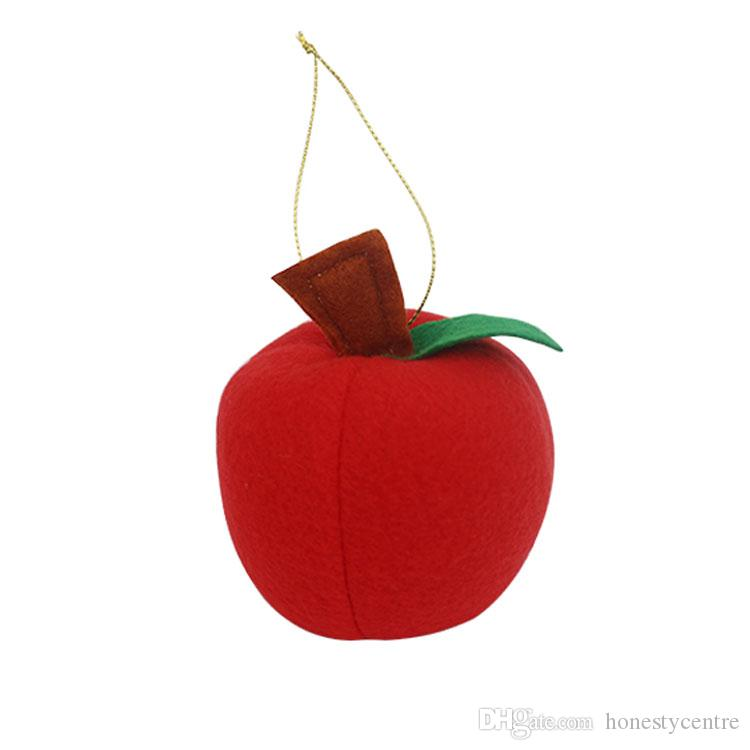 Red Foam Apple Christmas New Year S Tree Ornaments Holiday Party Decorations Festival Party Home Decor Supplies