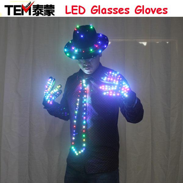 2018 led clothing glowing clothes hat fashion led gloves talent show luminous tie suits ballroom. Black Bedroom Furniture Sets. Home Design Ideas