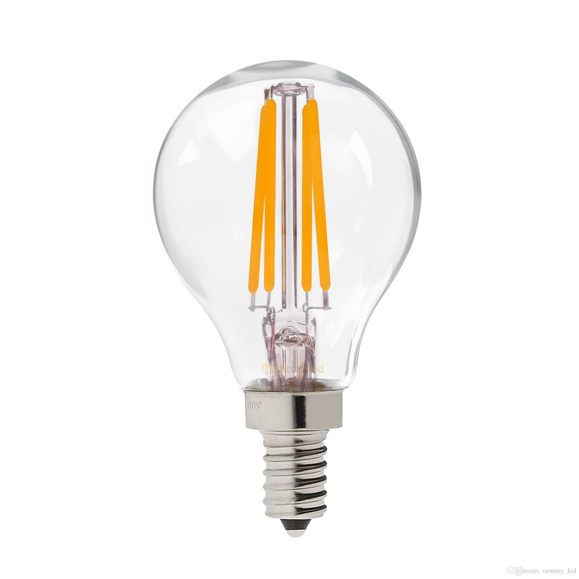 retro led filament light bulb 4w e12 e14 base edison g45 clear style 110v 220vac dimmable e12. Black Bedroom Furniture Sets. Home Design Ideas