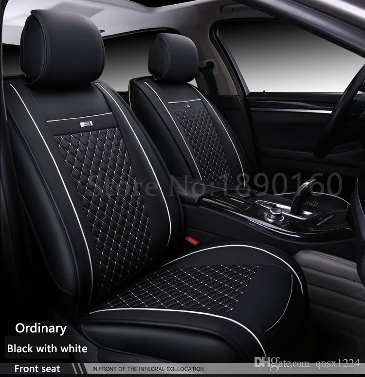special leather car seat covers for buick all models enclave encore envision car black gray red. Black Bedroom Furniture Sets. Home Design Ideas