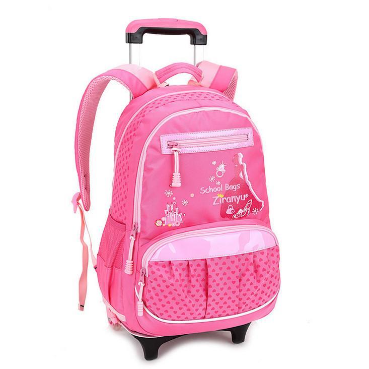 New Arrival Children Backpack Kids Lovely Leaves Trolley School ...