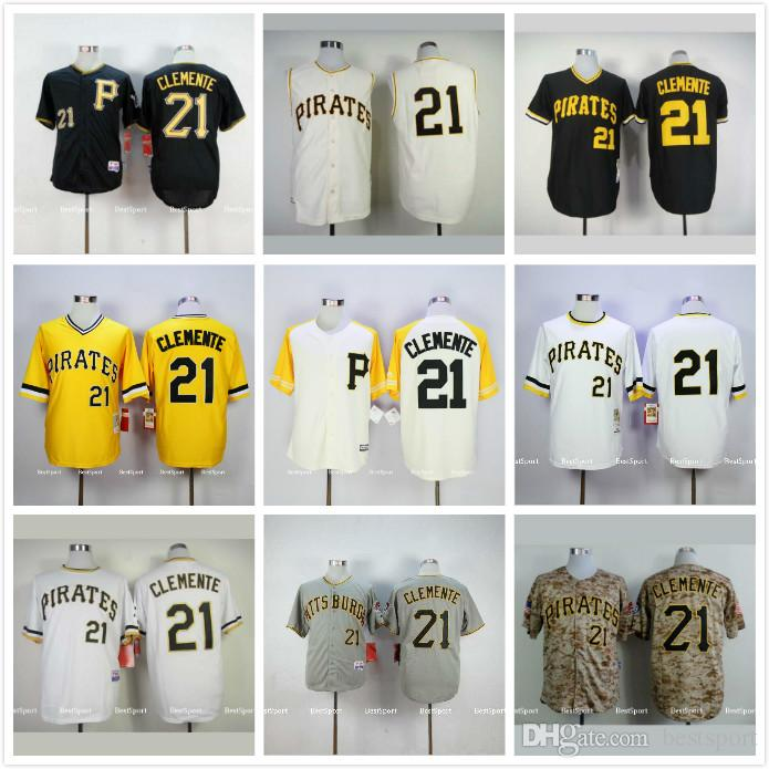 Pittsburgh Pirates Maillot de baseball, Pittsburgh Pirates 21 Roberto Clemente M