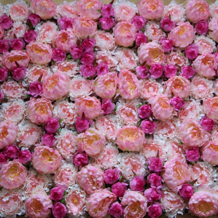 Best Ems Artificial Silk Peony Flower Wall Wedding