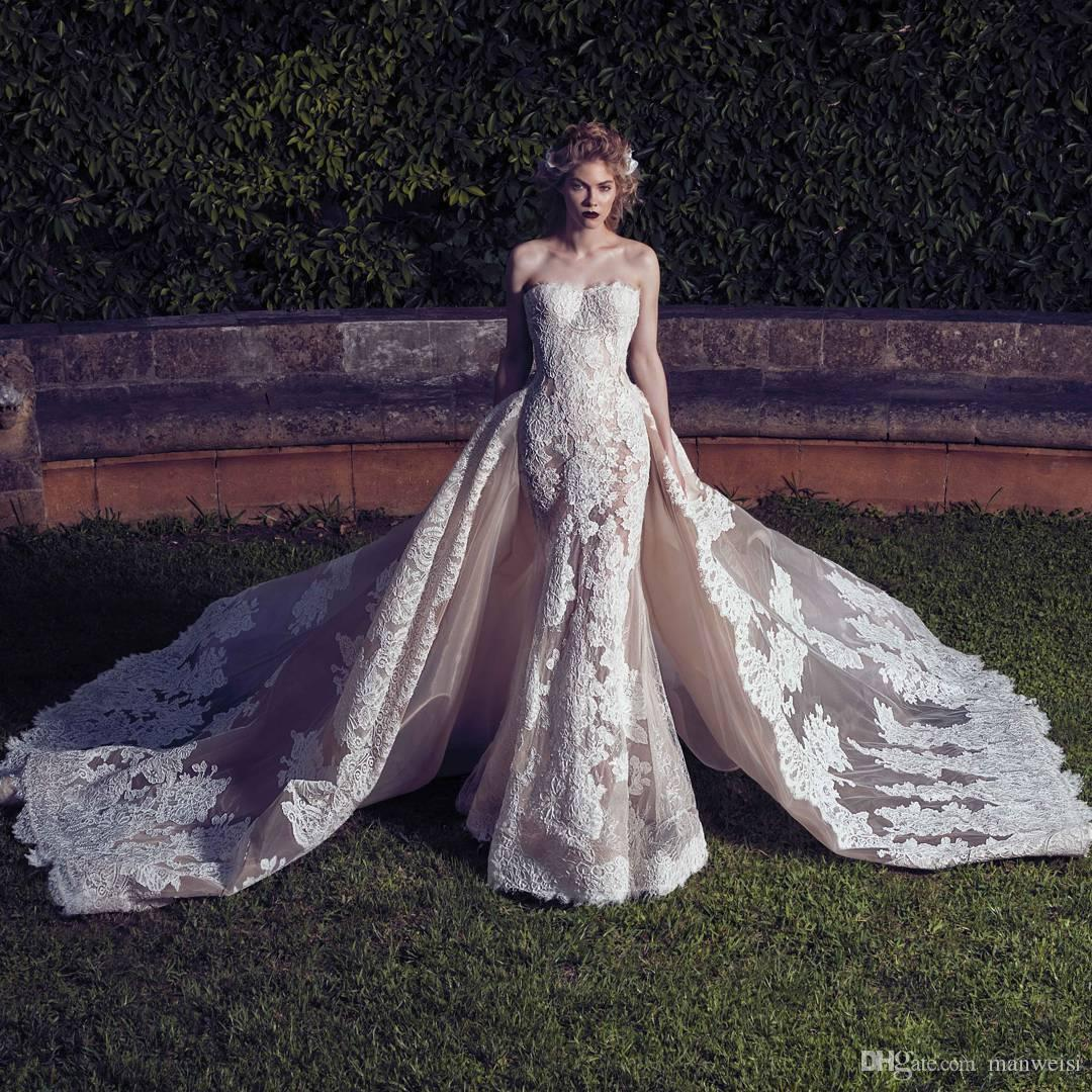 Saiid kobeisy 2017 mermaid wedding dresses with detachable for Saiid kobeisy wedding dresses