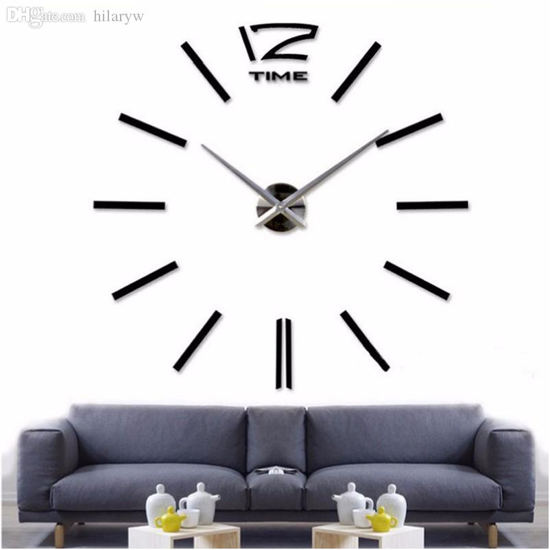 Wholesale 2016new Home Decor Big Wall Clock Modern Design Living Room  Quartz Metal Decorative Designer Clocks Wall Watch Decorative Clocks  Decorative Clocks. Wholesale 2016new Home Decor Big Wall Clock Modern Design Living