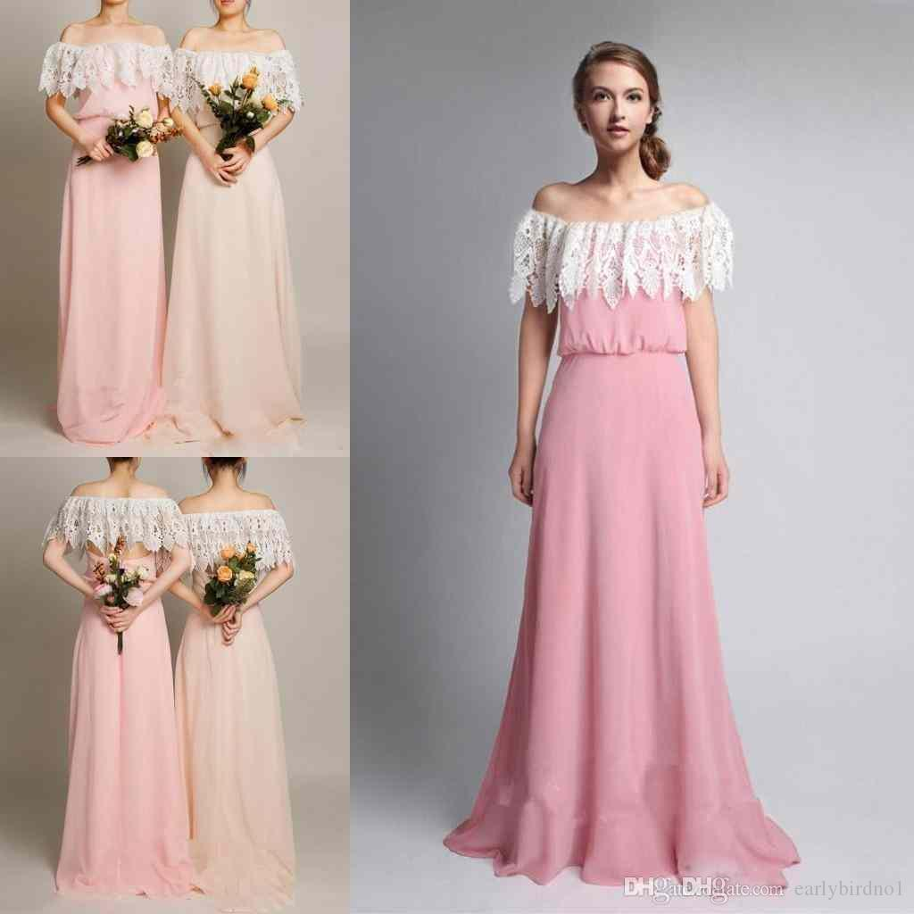 2017 New Simple Country Style Chiffon Bridesmaid Dresses