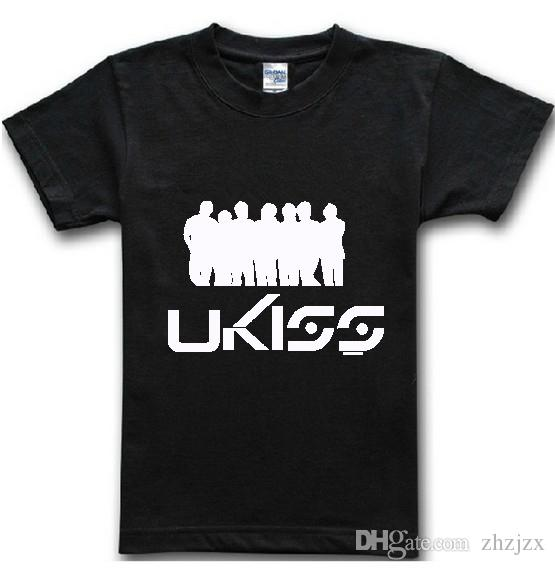 U kiss band men t shirts fashion 2016 summer new casual for Band t shirt designs for sale