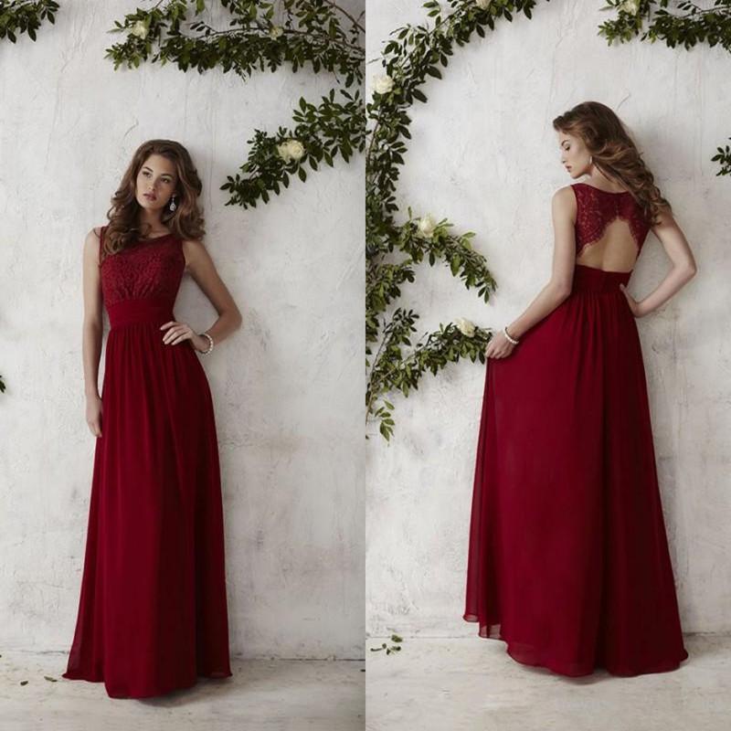 Plus size bridesmaid dresses chiffon burgundy red lace for Burgundy wedding dresses plus size