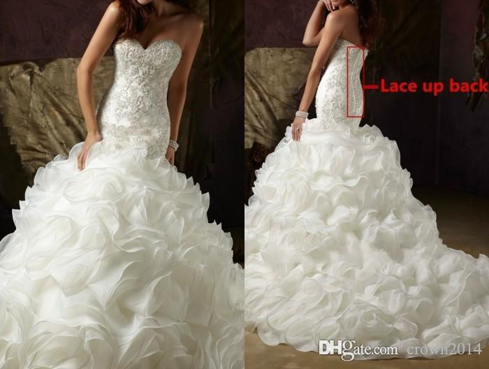 Great Mermaid Wedding Dresses With Bling And Ruffles Blinged Out Dress