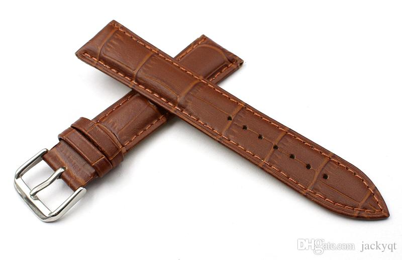 durable brown men women cowhide watch strap 18mm 20mm 22mm