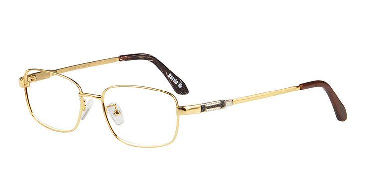 Gold Color Eyeglass Frames : Mens Titanium Eyeglass Frames Gold Color Men Eye Glasses ...