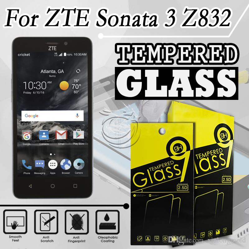 zte sonata 3 tempered glass out