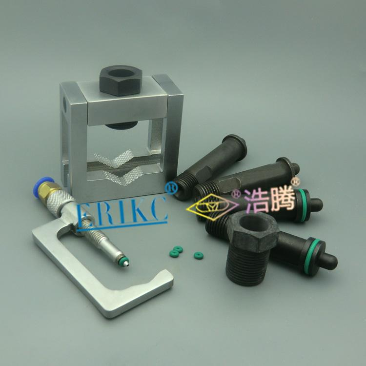 Erikc Auto Common Rail Injector Repair Tool , Injection Universal Grippers And Diesel Oil Return