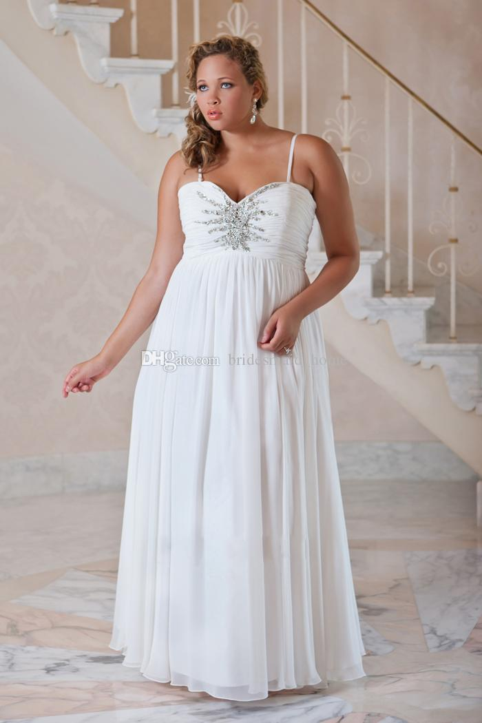 2016 fall plus size bridal wedding dresses sheath ivory for Plus size beaded wedding dresses