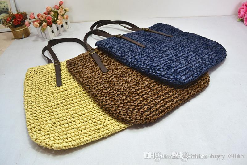 2016 Fashion Straw Clutch Bags Women Beach Bags Tote Bags Natural ...
