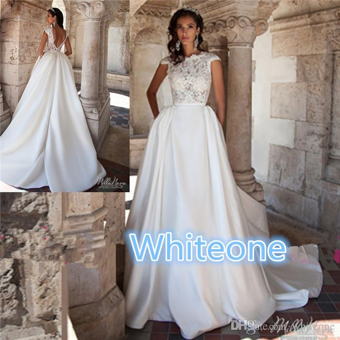 Milla nova 2016 wedding dresses for western styling brides for Low back wedding dresses for sale