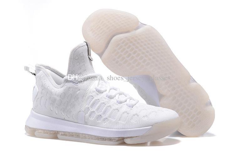 Kd 9 All White Black Mens Basketball Shoes Cheap Kd9 Kevin ...