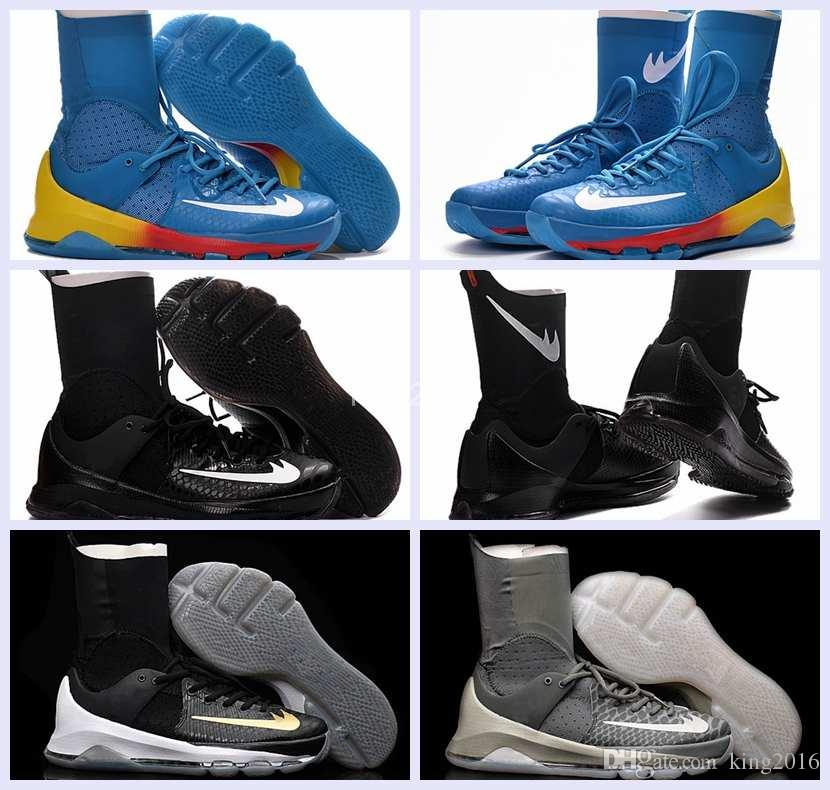 info for 935c1 5b58f Kevin Durant KD 8 Elite Home White On Court Black Gold Wolf Grey Men  Basketball Shoes