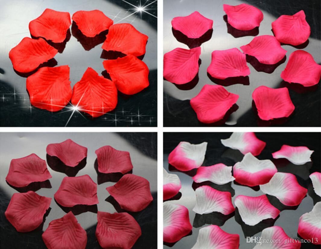 Wedding Table Silk Rose Petals hot artificial silk rose petals for wedding party decrations fashion atificial flowers polyester petals