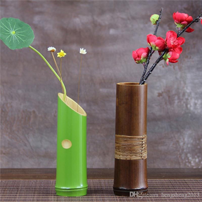 Wholesale handmade bamboo decorative vases for home for Cheap decorative items