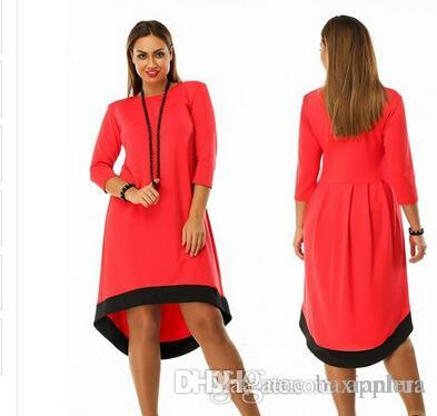 Plus size autumn winter dress women clothing long sleeve ladies
