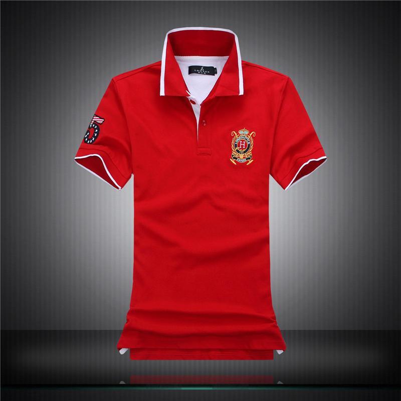 2016 embroidery polo shirts for men fashion 100 cotton for Cheap polo shirts embroidered