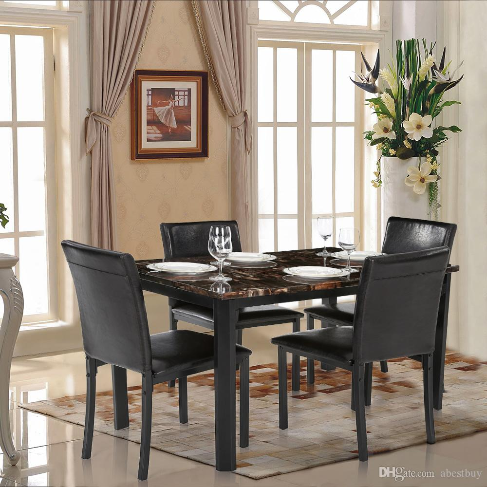 2017 ikayaa modern kitchen dining room table chair set for for Dining room table 4 person
