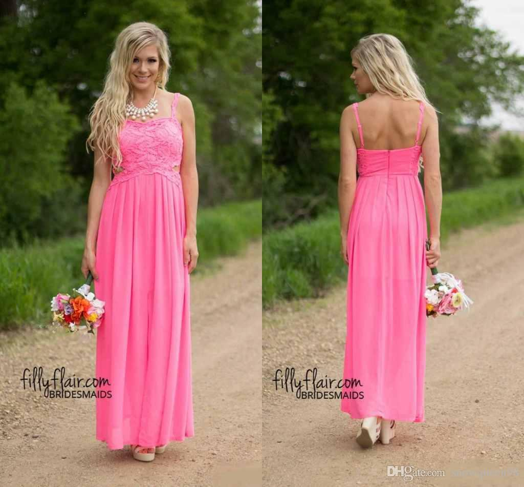 2016 Country Western Beach Bridesmaid Dresses Formal