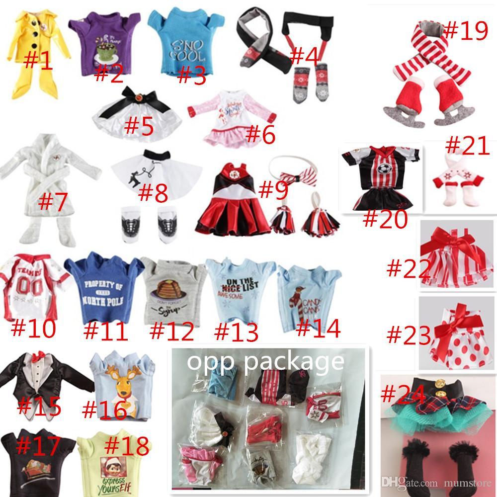 24 style christmas elf doll clothes plush toys elves xmas dolls