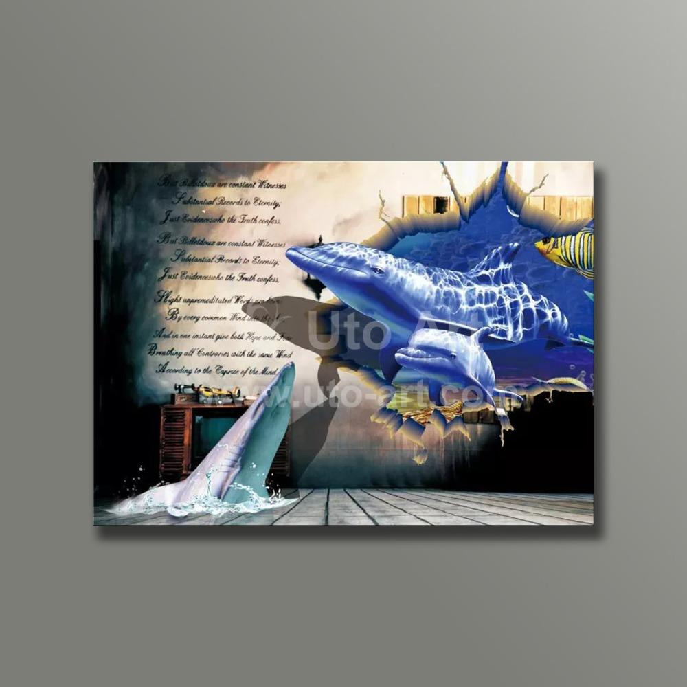 3d Wall Art New Guarantee Unique 3d Wall Art Prints Painting Animal Dolphine