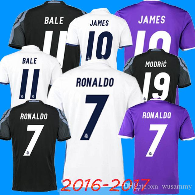 2016 2017 Real Madrid home Maillot extérieur 16 17 Real Madrid RONALDO BENZEMA J