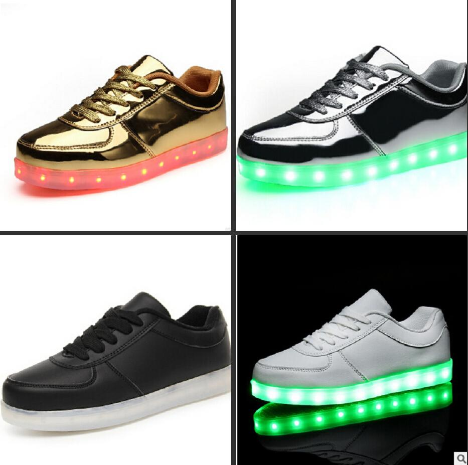 Newest Best Sneakers Led Kids Light Up Shoes Children Led Lace Up ...