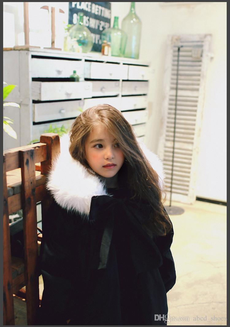 Winter Children Coats Girl Add Wool Thicken Fur Collar Cotton ...