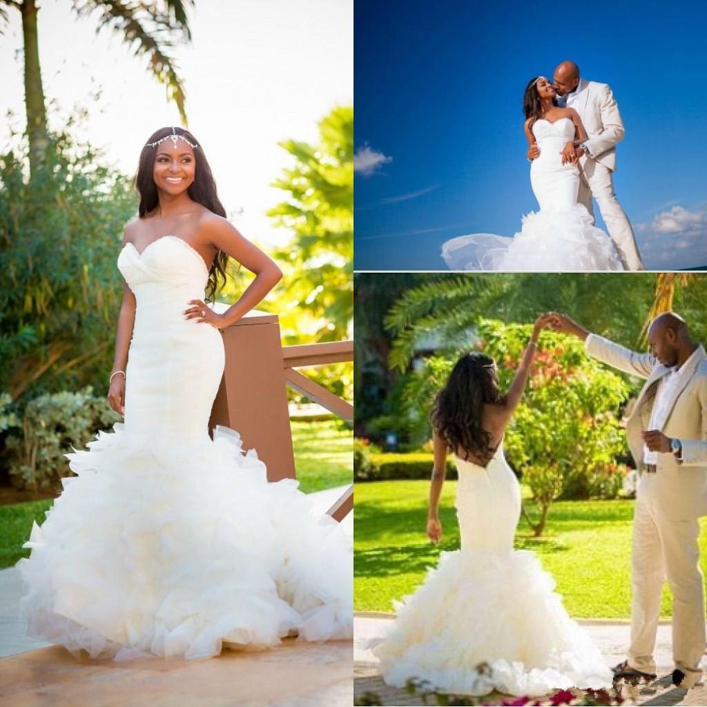 Trumpet Plus Size Wedding Dresses Low Back y Beach
