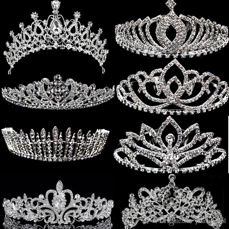 2016 Crystal Vintage Wed Crown Bridal Tiara Hair