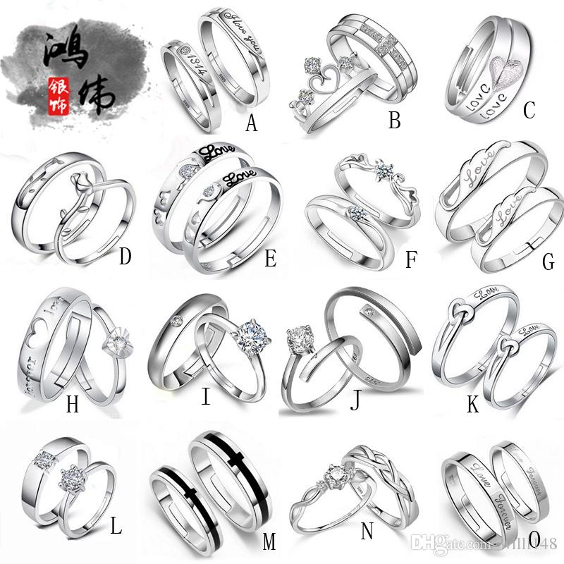Top Grade 925 Sterling Silver Couple Rings Home Delivery Service Business Plan 2 On Home Delivery