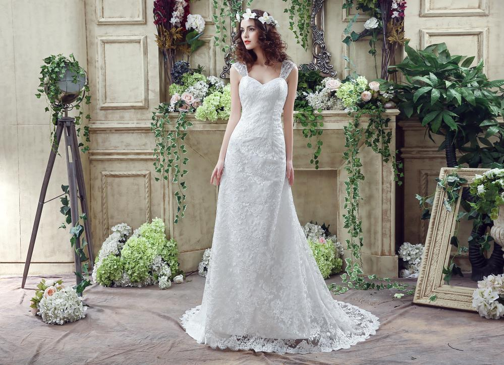 Discount 2016 Cheap Lace Wedding Dresses Under 100 In Stock Backless Spaghetti Strap Fitted