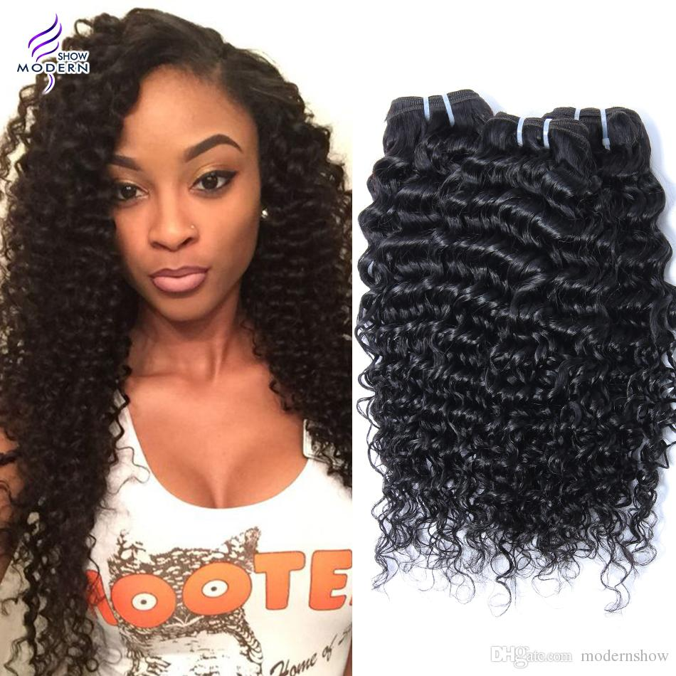Indian Remy Weave 100 Virgin Human Curly Hair Extensions