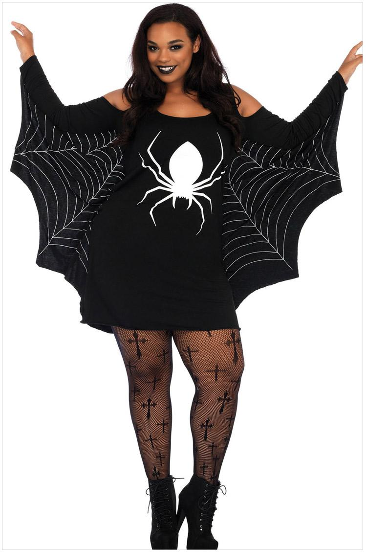 halloween costumes for women plus size long sleeve costume outfits adult woman halloween costume dress strapless bat cloth cosplay women halloween