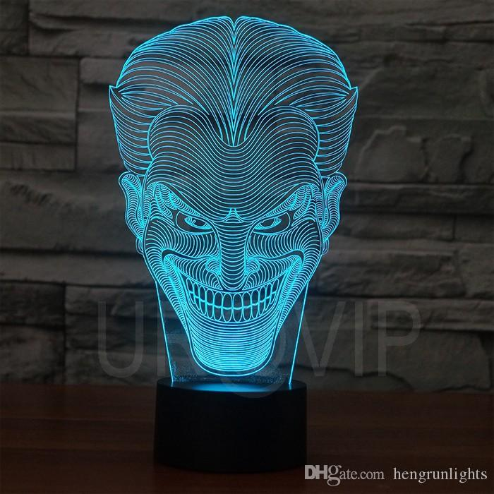 Lampe de table incroyable Illusion 3D incroyable Lampe de table Night Light avec