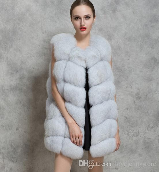 New Women Fashion Faux Fur Vest Coat Winter Thick Fur Coat Ladies ...